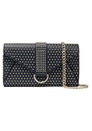 Boutique Moschino Studded Textured-leather Envelope Clutch Woman Black Size --