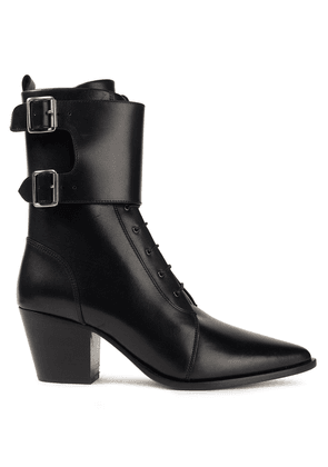 Iro Caliope Buckled Leather Ankle Boots Woman Black Size 38