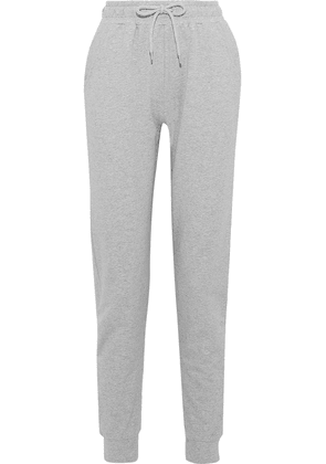 Iris & Ink Mélange French Cotton-blend Terry Track Pants Woman Gray Size S