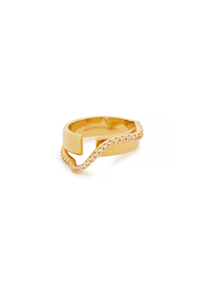 Cornelia Webb Distorted Double 24kt Gold-plated Ring