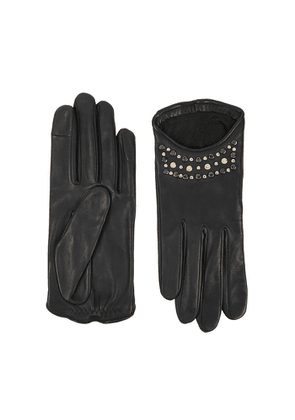 AGNELLE Keren Studded Leather Gloves
