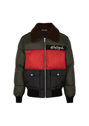 Palm Angels Panelled Quilted Shell Jacket