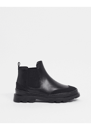 Camper chunky leather chelsea boots in black