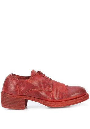 Guidi lace-up heeled shoes - Red