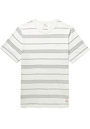 Armor Lux - Barnaby Logo-Appliquéd Striped Cotton-Jersey T-Shirt - Men - White