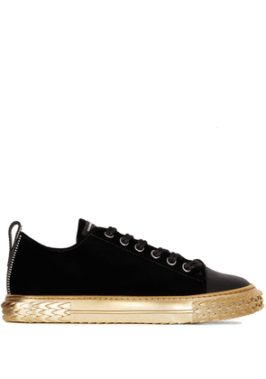 Giuseppe Zanotti velvet low-top trainers - Black