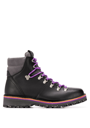 Paul Smith lace-up hiking ankle boots - Black