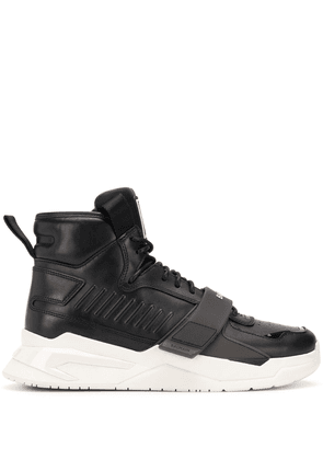 Balmain multi-panel high-top sneakers - Black