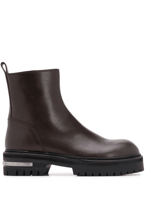 Ann Demeulemeester leather ankle boots - Brown