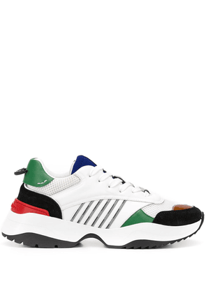 Dsquared2 stripe-detail layered sneakers - White