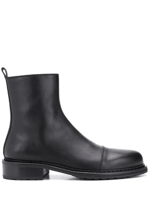 Ann Demeulemeester round toe ankle boots - Black