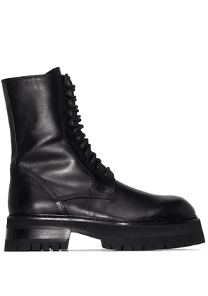 Ann Demeulemeester lace-up chunky sole boots - Black