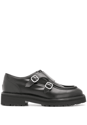 Doucal's front buckle loafers - Black