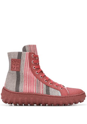 CamperLab striped high-top sneakers - Red