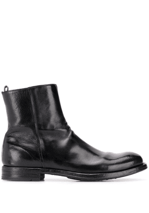 Officine Creative polished leather ankle boots - Black