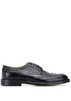 Doucal's lace-up leather brogues - Black