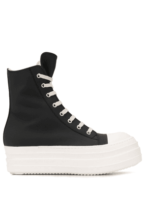 Rick Owens DRKSHDW chunky sole high top trainers - Black