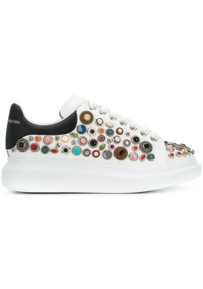 Alexander McQueen embellished sneakers - White