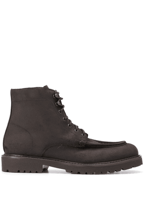 Doucal's calf suede boots - Brown