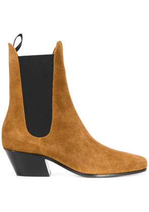 Khaite pointed elasticated panel boots - Brown