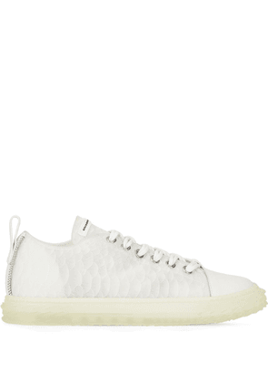 Giuseppe Zanotti lace-up low-top trainers - White