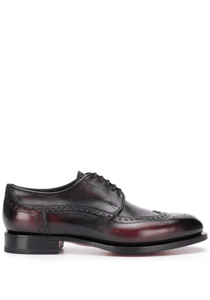Santoni lace-up leather brogues - Red