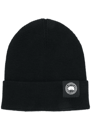 Canada Goose logo patch beanie - Black