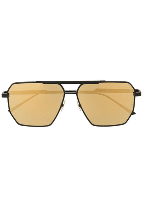 Bottega Veneta geometric aviator sunglasses - Black