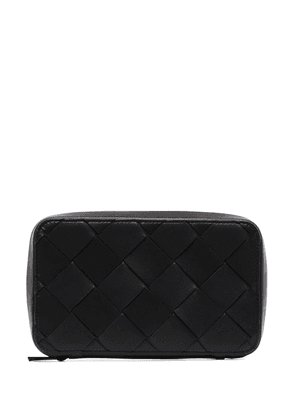 Bottega Veneta Intrecciato zip-around wallet - Black