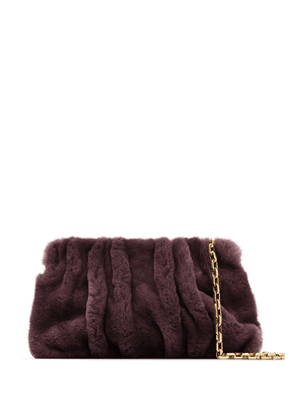 Elleme purple Vogue shearling bag