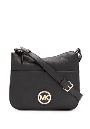 Michael Michael Kors logo plaque leather shoulder bag - Black