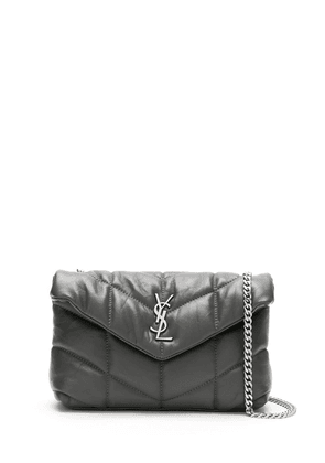 Saint Laurent mini LouLou puffer crossbody bag - Grey