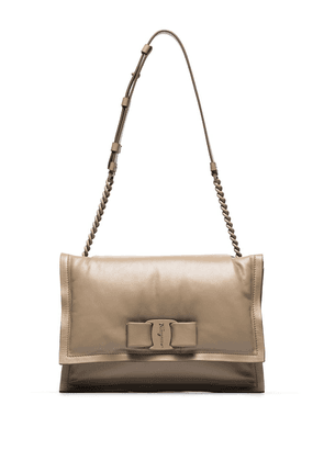 Salvatore Ferragamo Viva Bow padded shoulder bag - Neutrals