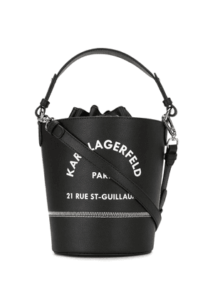 Karl Lagerfeld Rue St Guillaume bucket bag - Black