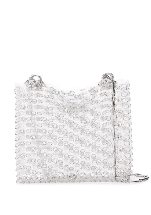 Paco Rabanne crystal chain-link tote - White