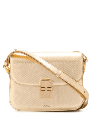 A.P.C. metallic leather shoulder bag - GOLD