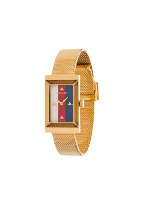 Gucci rectangle stripe face watch - GOLD