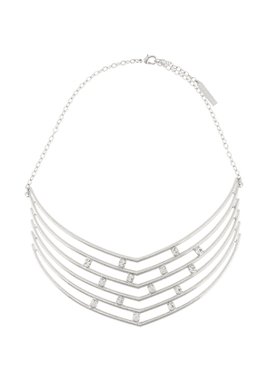 Alberta Ferretti crystal-embellished strass necklace - SILVER