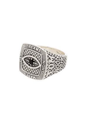 Tom Wood sterling silver Championship signet ring