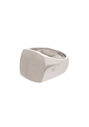 Tom Wood sterling silver Cushion signet ring