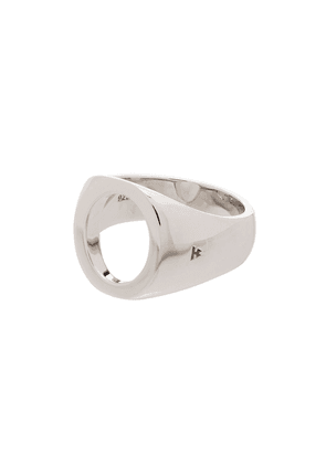 Tom Wood sterling silver open-front signet ring