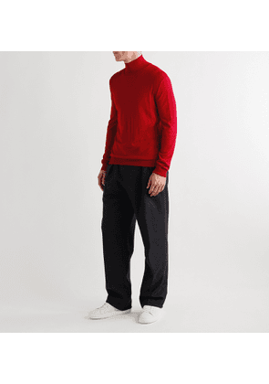 Dunhill - Slim-Fit Wool Rollneck Sweater - Men - Red