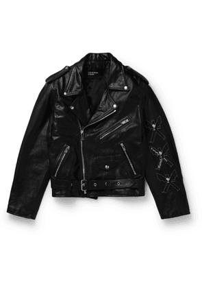 Enfants Riches Déprimés - Logo-Print Leather Jacket - Men - Black