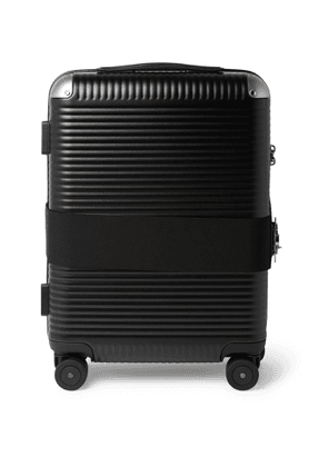 FPM Milano - Bank Spinner 55cm Leather-Trimmed Polycarbonate Carry-On Suitcase - Men - Black