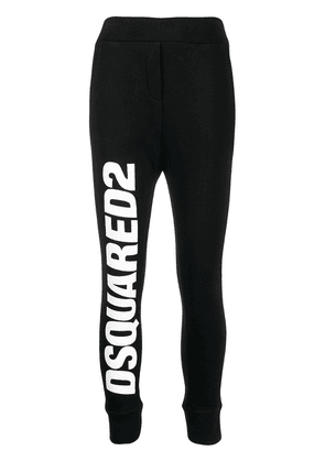 Dsquared2 logo print track pants - Black