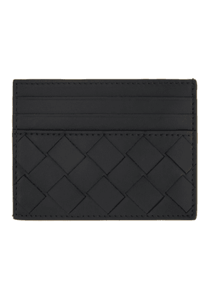 Bottega Veneta Black Woven Card Case