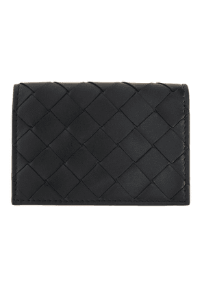 Bottega Veneta Black Intrecciato Small Card Holder