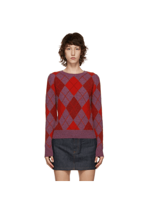 A.P.C. Purple and Red Helene Sweater