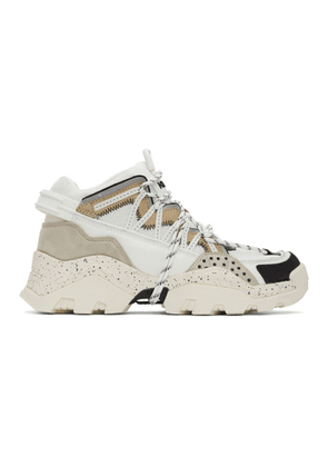 Kenzo Off-White and Grey Inka Sneakers
