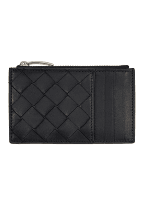 Bottega Veneta Black Top Zip Multislot Card Case